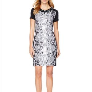 Michael Kors Snake Print Jeweled Dress XS